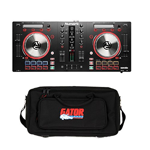 Numark Mixtrack Pro 3 All-In-One DJ Controller for Serato DJ. With Gator GK-2110 Gig Bag (Nv Numark Controller)