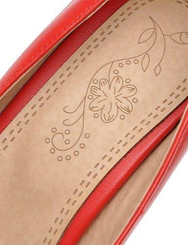 tacones mujer ¨ Rosso casual ® 37 oficina n EU ZQ negro Textiles eu43 robusto tac rosso Rosa Lavoro tacones di cn44 Home Scarpe uk9 semicuero us11 abito Bianco wHqnICAP