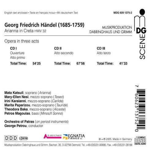 Handel: Arianna in Creta, HWV 32 by MD&G