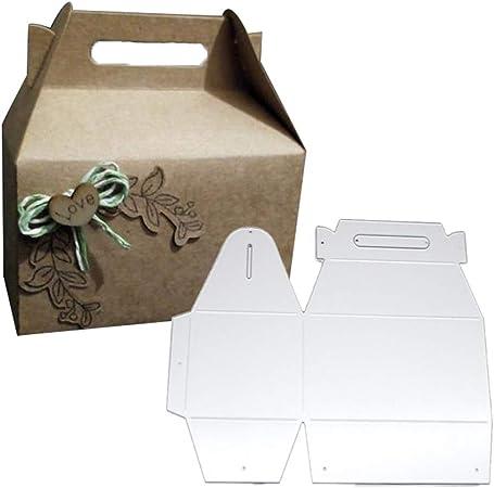 RIsxffp DIY Plantilla de Punch Caja de Regalo de Caramelo Troquelado de Metal Tarjetas de Papel Scrapbooking Silver: Amazon.es: Hogar