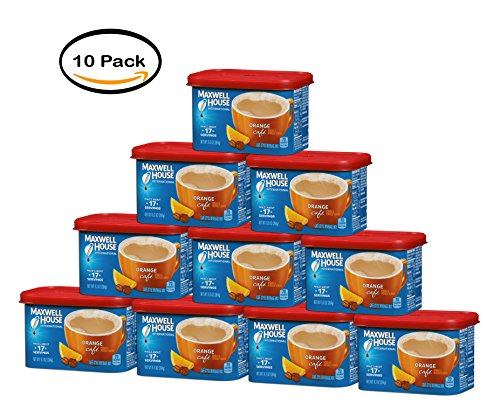 PACK OF 10 - Maxwell House Orange International Cafe Beverage Mix, 9.3 OZ from MAXWELL HOUSE
