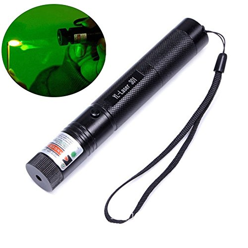 (Best Green Laser Pointer High Power Hunting Rifle Scope Sight Laser Pen, Demo Remote Pen Pointer Projector Travel Outdoor Flashlight, LED Interactive Baton Funny Laser Toy)