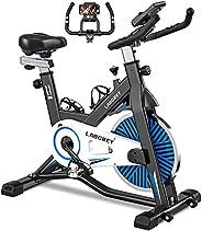 LABGREY Exercise Bike Indoor Cycling Bike Stationary Cycle Bike with Heart Rate Sensor & Comfortable Seat