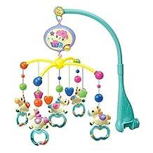 Baby Cute Horse Cartoon Stuffed Crib Mobile Music Box Toys,0-12 Months