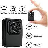 Mini Hidden Camera Small Camera 1080P HD Motion Detection IR Night Vision 16GB TF Card Included Portable Sports Camera Supports Snapshot, Nanny Cam