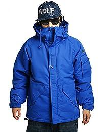 Mens SOUTH PLAY Waterproof Ski SnowBoard Wear Jacket Jumper SOLID BLUE
