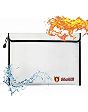 Youdepot Fire Waterproof Proof Safe Document Holder Bags - Waterproof Storage Safety for Files, Money, Passport, Jewelry, Valuables,Bag with Zipper-15in x 11in.