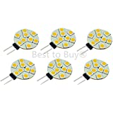 Best to Buy 6-PACK (9-5050 Warm White) Puck light Replacement for G4-halogen-Dimable version