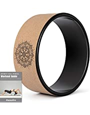 """Yoga Wheel for Back Pain & Stretching, 12.6""""x5.11"""" Yoga Roller Back Wheel Yoga Prop Wheel with Thick Cushion for Improving Flexibility, Backbends & Yoga Poses-Support 330LBS, Strong & Comfortable"""