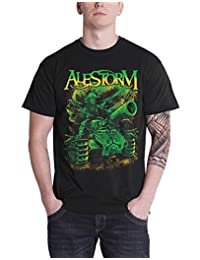 Alestorm T Shirt Trenches and Mead Band Logo New Official Mens Black