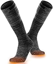 ORORO Heated Socks for Men and Women, Rechargeable Electric Socks for Hunting Skiing and Cold Feet