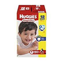Huggies Snug & Dry diapers, 180 count Step 4 Econo Plus