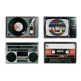 Placemat set nostalgia hifi equipment Retro Style retro style