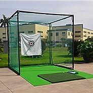 Large Heavy Duty Golf Net, 3x3m Golf Practice Net for Indoor Outdoor Garage Backyard, Portable Golf Hitting Ne