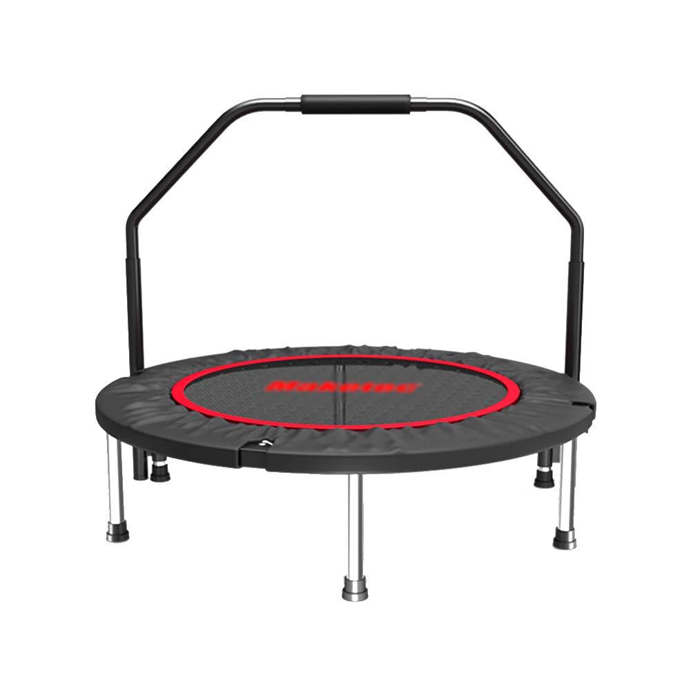 Klapptrampolin mit Verstellbarem Handlauf, Mini-Übungs-Trampolin für Erwachsene, Indoor-Fitnessgeräte