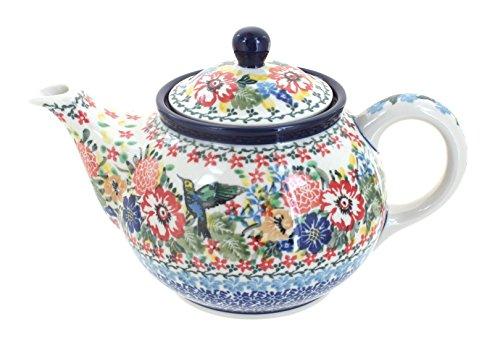 Polish Pottery Hummingbird Small Teapot