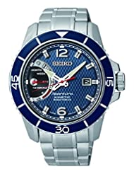 Seiko SRG017P1 Men's Sportura,Kinetic Direct Drive,Stainless Steel Case And Bracelet, Water Resistant by Seiko Watches