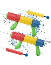 Lehoo Castle Water Gun, 4 Pack Water Blaster Gun, Super Soaker with Foam Handle, Squirt Gun for Kids, Outdoor Water Toys for Water Park Swimming Pool Beach