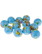 Blesiya 12pcs Squeeze Globe Ball Toy Stress World Map Earth Venting Toy Educational