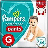 Fralda Pampers Confort Sec Pants Mega, G, 34 Unidades