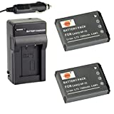 DSTE® 2x NP-70 Battery + DC81 Travel and Car Charger Adapter for Casio Exilim Zoom EX-Z150 EX-Z250 EX-Z250BE EX-Z250GD EX-Z250PK EX-Z250RD EX-Z250SR Camera