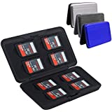 3 Pcs Aluminum SD TF Memory Card Cases, 16 Slots, AFUNTA Water Resistant Shock-Proof SD Micro SD TF SDHC SDXC Camera Card Storage - Silver, Black, Blue