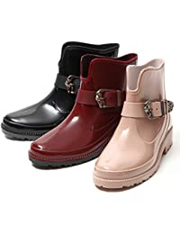 Womens Short Ankle Rubber Rain Boots