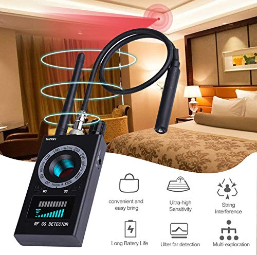 High Sensitivity Spy Detector & Magnetic Signal Scanning Hidden Camera Lens Detection RF Signal Detector Wireless Signal Bug Detector for GSM Listening&Tracking Device Finder