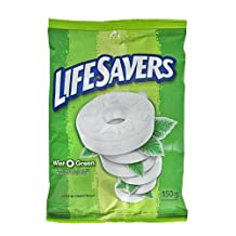 Life Savers Wint-O-Green, Peg Bag, 150gm, 12 Count