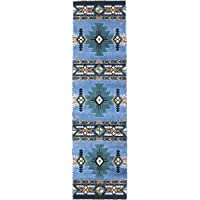 Rugs 4 Less Collection Southwest Native American Indian Area Rug Design R4L 318 Light Blue (2X7)