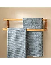 Wooden towel and bathrobe holder
