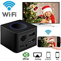 WiFi Display Dongle DIWUER Wireless Display Receiver With Port More Stable Screen Mirroring Support 1080P Full HD AV Dual Output Display Miracast Airplay for iOS Android Mac Win8.1