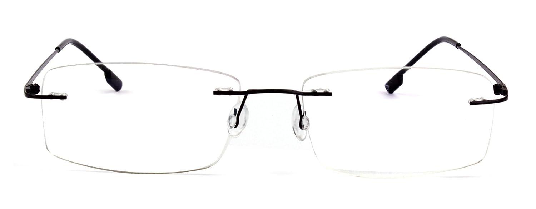 dcaf80d3deb Bendable Titanium Rimless 1 Eyeglasses Brown - Shabooms