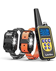 Remote Dog Training Collar, Rechargeable and IPX7 Rainproof Dog Shock Collar with Beep, Vibration and Shock, Electric Dog Collar for Puppy, Small, Medium and Large Dogs