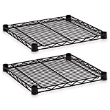 ALERA SW581818BL Industrial Wire Shelving Extra Wire Shelves, 18w x 18d, Black, 2 Shelves/Carton by Alera