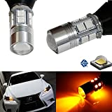 iJDMTOY No Resistor Required Amber Yellow 7440 T20 5W CREE LED Bulbs For Car Front or Rear Turn Signal Lights (No Hyper Flash and No Modification)