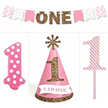 1st Birthday Girl - Smash Cake Kit - High Chair Decorations
