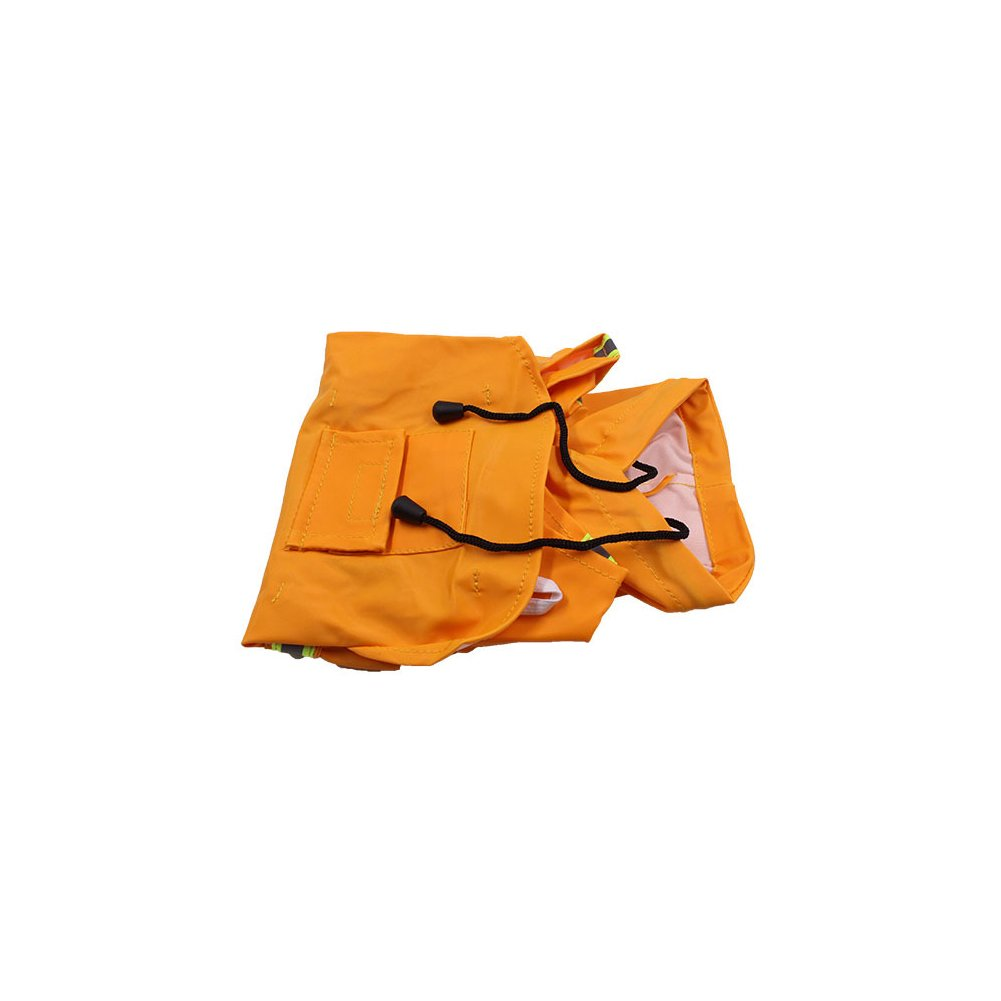 orange XXXL orange XXXL Waterproof Clothes Lightweight Rain Jacket Poncho Hoodies with Strip Reflective