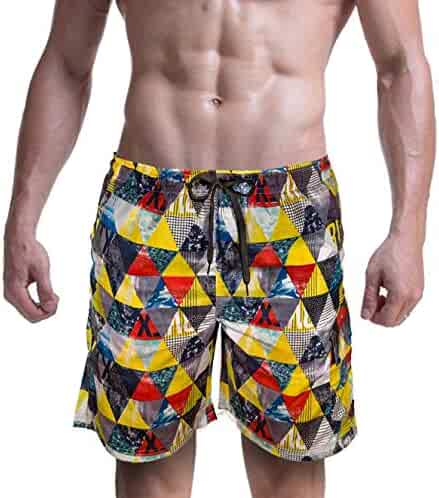 S-XXXL 98 Coast Av Slim Fit European Style Quick Dry Designer Beach Shorts Tropical Collection Mens Swim Trunks
