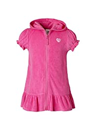 Pink Platinum Girls Terry Hooded Swim Cover-up Dress with Zipper