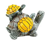 Cheap Solar Powered 2 Baby Turtles on Mama Turtle Outdoor Accent Lighting LED Garden Light Decor