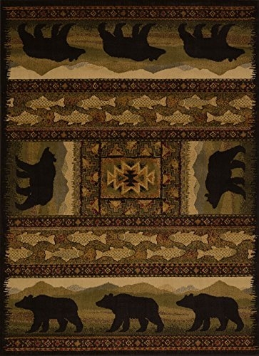 United Weavers of America Affinity Collection Black Bears Rug, 1.10 by 3-Feet - Brown from United Weavers of America