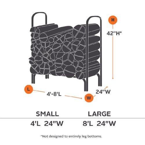 Classic Accessories 52-068-020401-00 Log Rack Cover, Black, 4-Feet