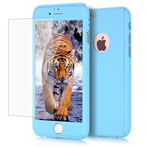 iPhone 6/ 6S Plus case, VPR 2 in 1 Ultra Thin Full Body Protection Hard Premium Luxury Cover [Slim Fit] Shock Absorption Skid-proof PC case for Apple iPhone 6/ 6S Plus (5.5 inch) (Light Blue) ()
