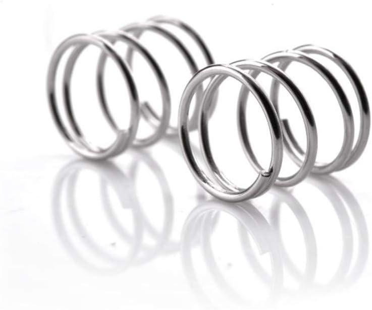 NO LOGO Lot de 10 Ressorts de Compression en Acier Inoxydable Anti-Corrosion et Anti-Rouille 0,3 x 3 mm 5 mm