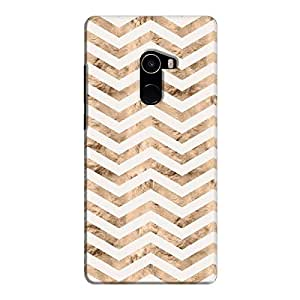Cover It Up - Brown White Tri Stripes Mi Mix 2 Hard case