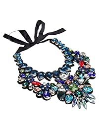 Holylove Large Women Statement Necklace Stylish Ribbon Jewelry with Gift Box for Event Party Shopping Night Out