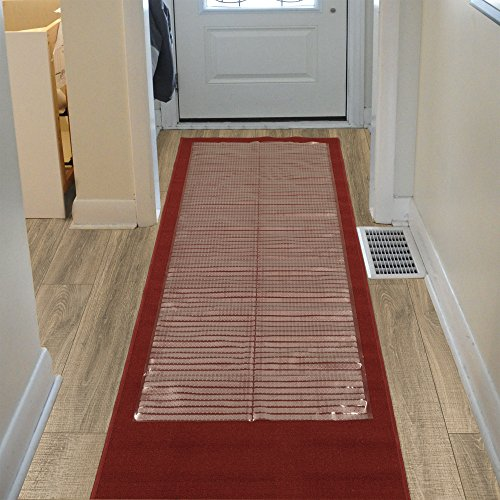 Sweet Home Stores Clear Plastic Runner Rug Protector Ribbed Multi Grip 26x6 26x6