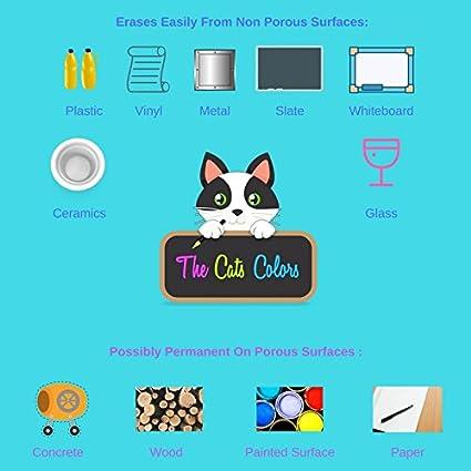 Los gatos colores marcador de tiza set & Magic gomas de ...