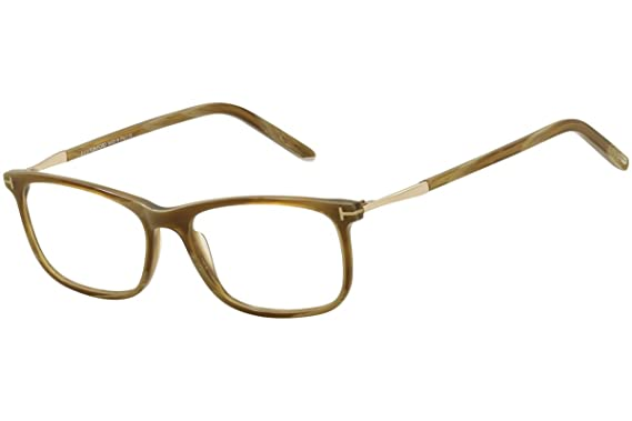 76dc556cbb1 TOM FORD TF5398 062 Brown Horn Clear Rectangular Eyeglasses 55mm at Amazon  Women s Clothing store